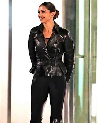 Best Jackets Donned By Deepika Padukone black