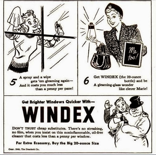 1940's advertising and humor: 1945 Windex