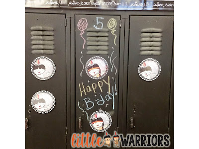 Student Birthdays, Chalkboard Lockers