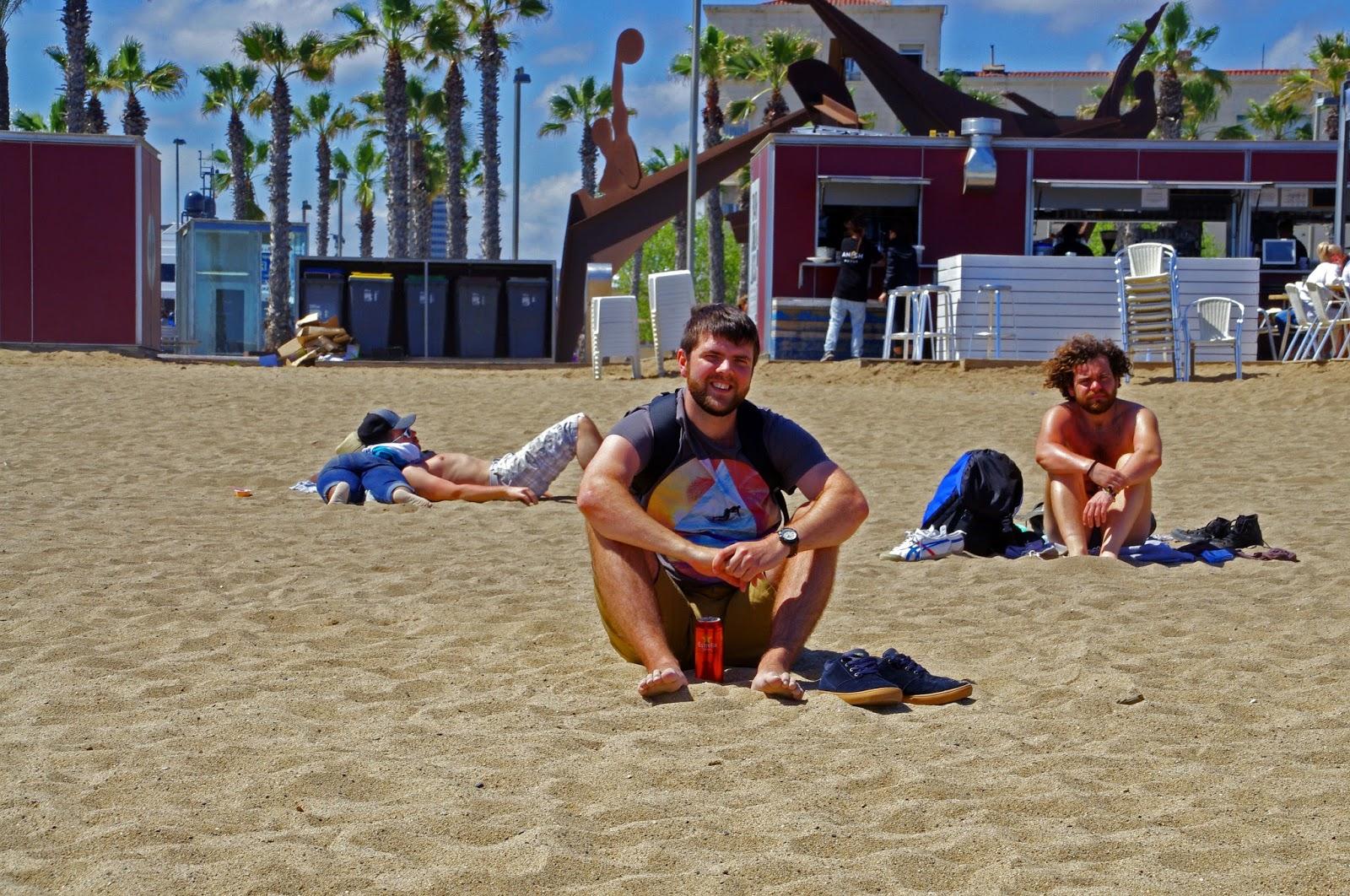 Dan on Barcelona Beach