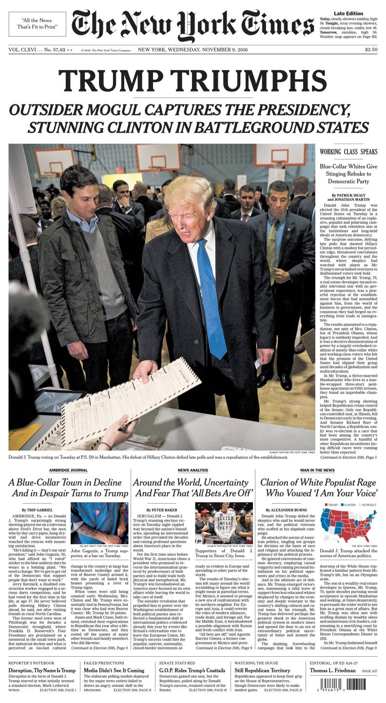 Cold Fusion Guy: New York Times - Trump Triumphs