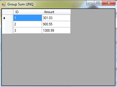 Apply LINQ Grouping and Sum aggregate to a Datatable Object