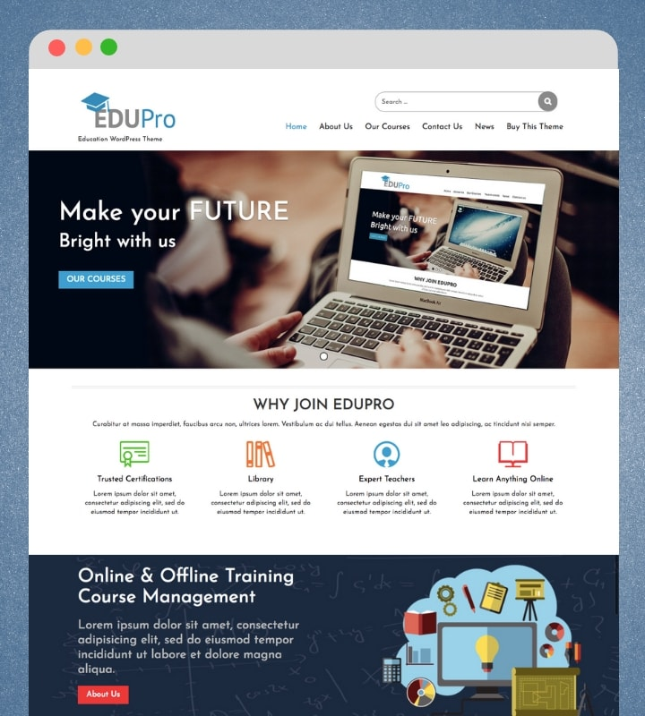 Edu Pro (Education WordPress Theme)