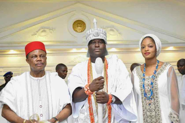 Gov Obiano Pays Courtesy Visit To The Ooni Of Ife & Olori Naomi Oluwaseyi In Ife Palace
