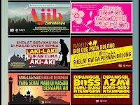 Download Gratis Banner Dakwah Ajakan Sholat - Design Kece Siap Print