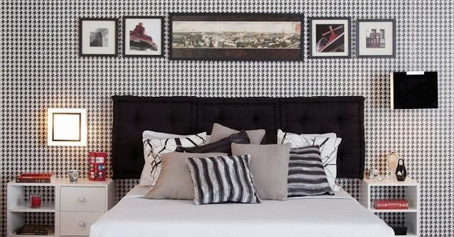 Resultado de imagem para decoração preto e branco para quarto