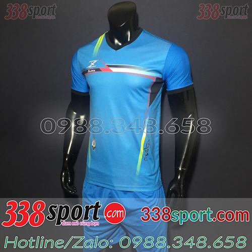 Áo Bóng Đá Không Logo Hot Zavikia LoCo STA01 Xanh Nhạt