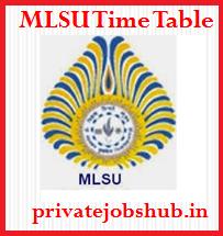 MLSU Time Table
