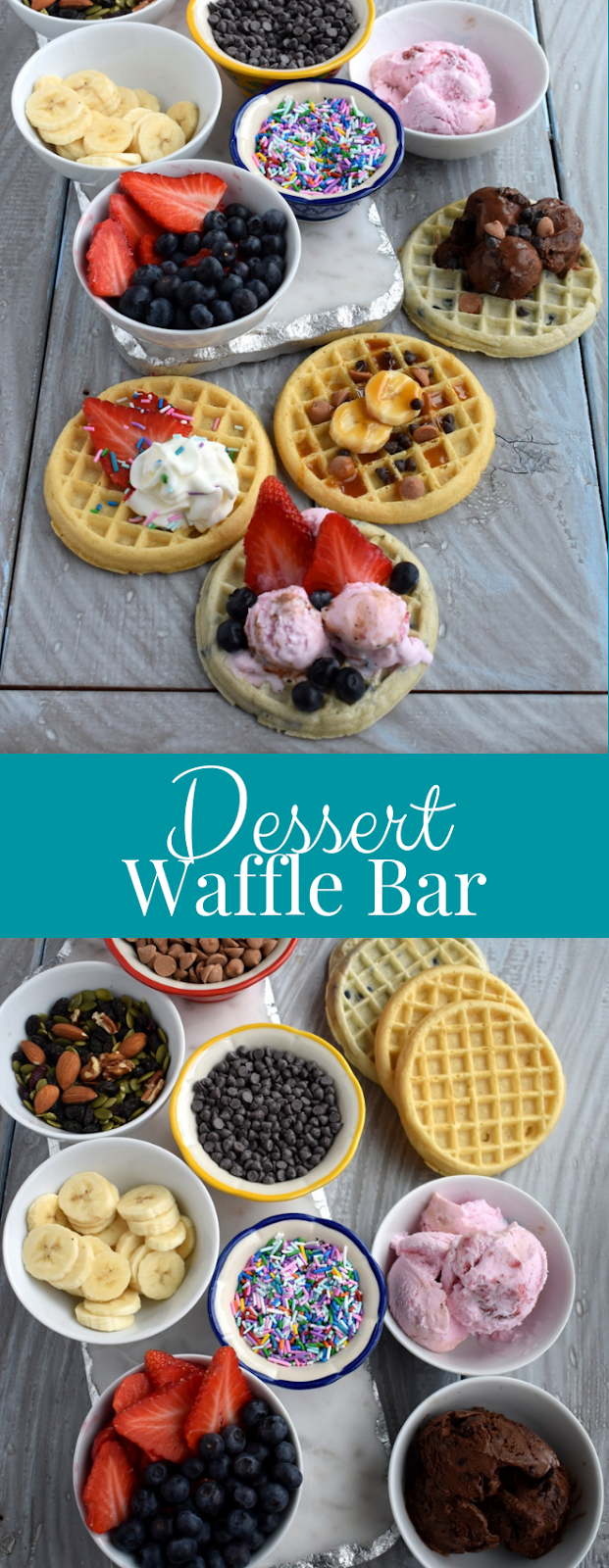 Dessert Waffle Bar toppings photo