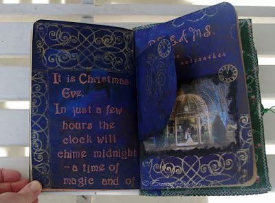 Christmas Eve magic page from handmade art journal