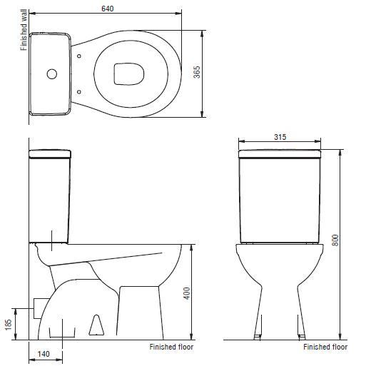 Modecor Toilet Suites Porcher Quatre Close Coupled Toilet