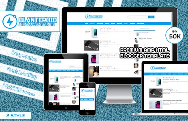 Blanteroid Premium AMP HTML Blogger Template