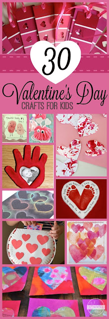 30 EASY Valentine's Day Crafts for Kids - so many really clever, unique crafts for kids. Great ideas for preschool, toddler, kindergarten, and more