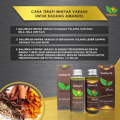 Cara terapi  amandel dengan minyak varash, varash healing oil, varash classic