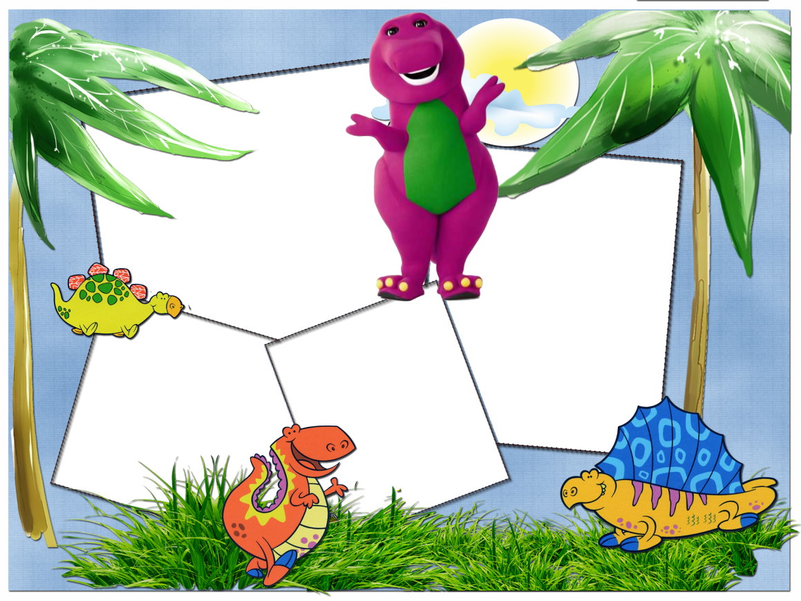Barney: Free Printable Photo Frames. | Oh My Fiesta! in english
