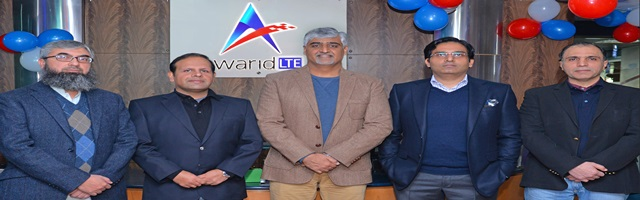 Group Photo of Warid Management Team  From right  Mr  Suhail Jan (CCO) Mr  Adeel Bajwa (Board Member) Mr  Muneer Farooqui (CEO)  Mr  Tariq Gulzar