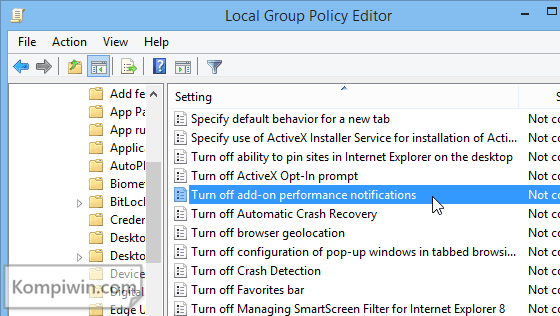 "Cara Menghilangkan ""Speed Up Browsing by Disabling Add-ons"" di Internet Explorer 3"