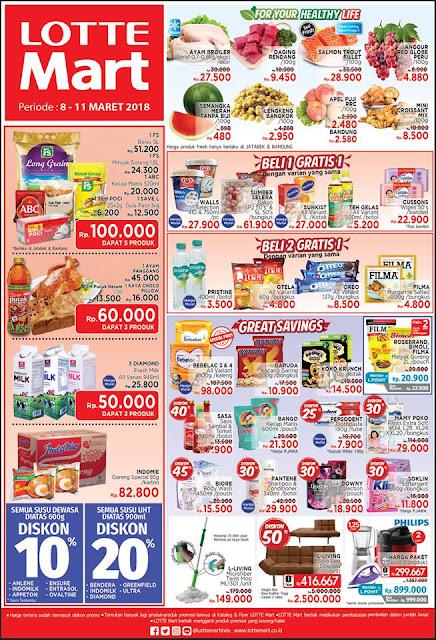 Katalog Promo LOTTEMART Hypermarket Akhir Pekan Periode 08 - 11 Maret 2018
