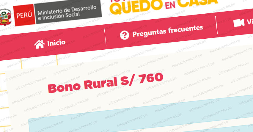 MIDIS: Sepa dónde inscribirse para el Bono Rural S/ 760 - www.midis.gob.pe