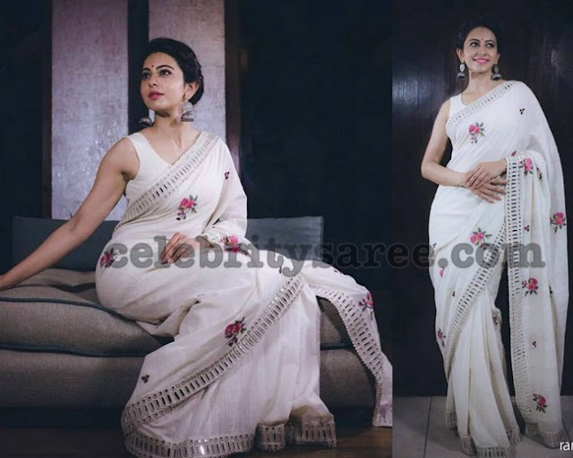 Rakul Preet in White Saree