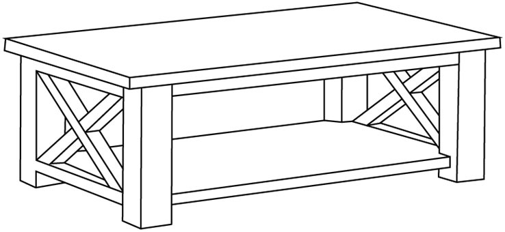how to draw a coffee table step 0