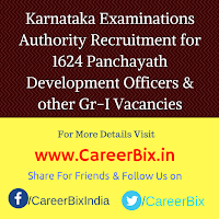 Karnataka Examinations Authority Recruitment for 1624 Panchayath Development Officers & Grama Panchayath Secretary Gr-I Vacancies