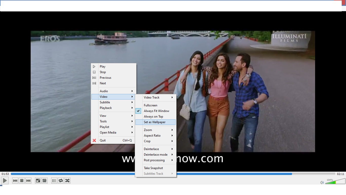 how to set any video as wallpaper in windows 7