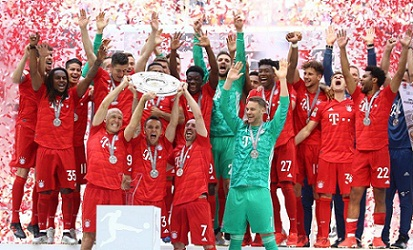 Bayern Munich current Bundesliga Champions to win the 7th consecutive German title 2018-19.