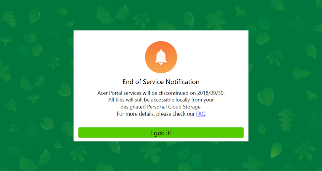 Cara Hilangkan Notifikasi Laptop Acer-end service notification acer portal services will be discontinued