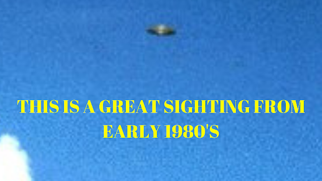 This is a great UFO sighting from early in the 1980's.