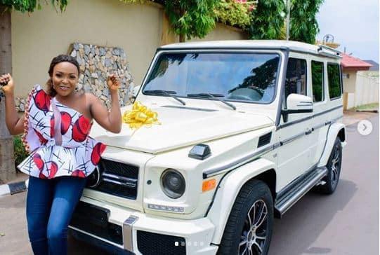Blogger Blessing Nkiruka Flaunts Her New Brabus On Her 30th Birthday.