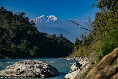 annapurna mountain range, Marsyangdi upper, nepal Himalayas, WhereIsBaer.com Chris Baer river whitewater snow capped peaks