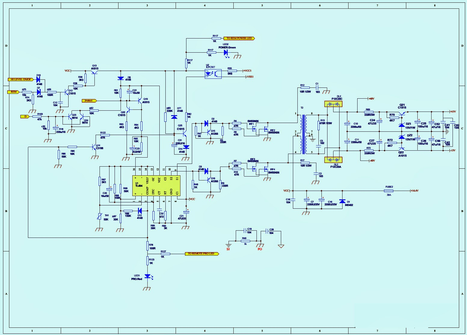 Atx Power Supply Schematic Diagram Additionally Wiring For Car Subwoofer S6512 44 Thunder5001 And Vented Jbl Gt Basspro12 U2013 Powered Circuit