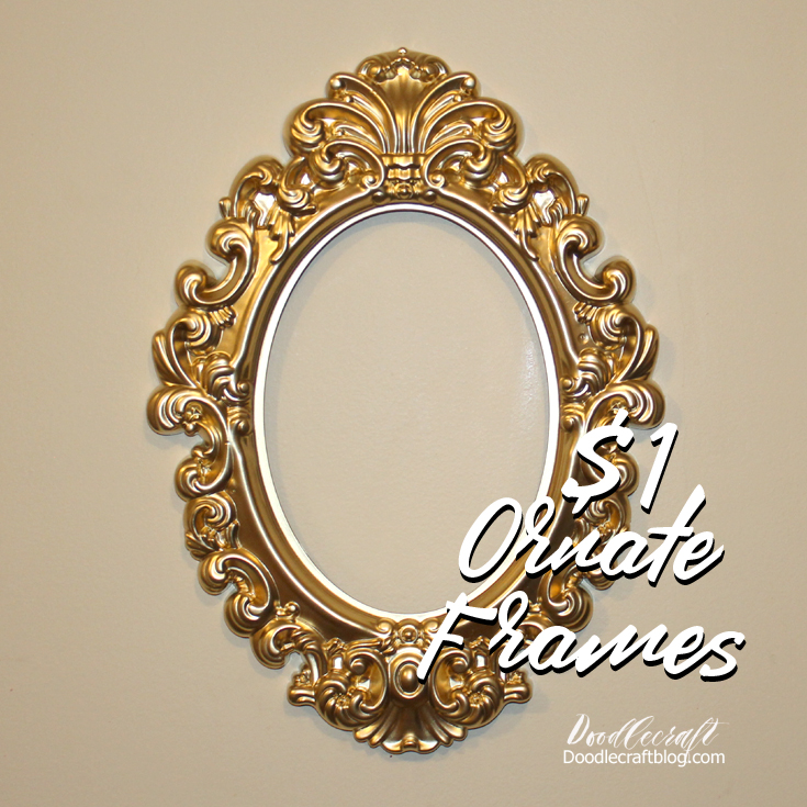 Doodlecraft: Antique Ornate Picture Frame!