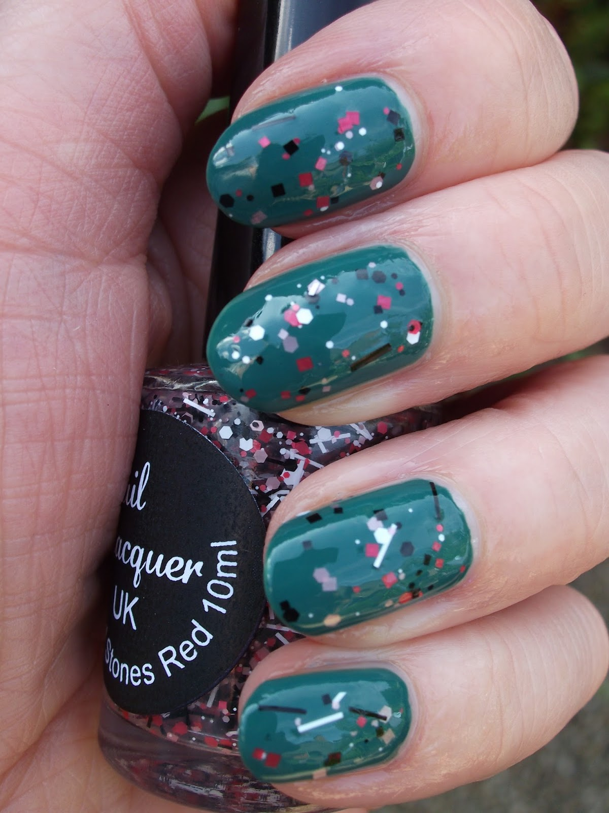 Knitty Nails: Nail Lacquer UK Sticks And Stones Red
