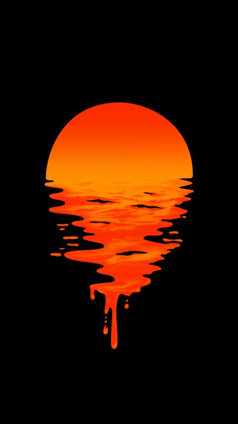 Liquid sunset