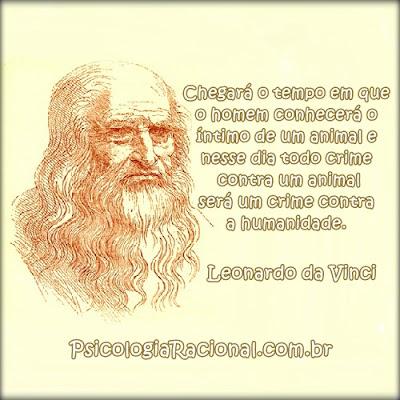 Leonardo da Vinci crime contra os animais será crime contra humanidade