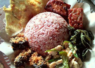 Gambar dari kuliner khas Gunungkidul Jogja Nasi Merah