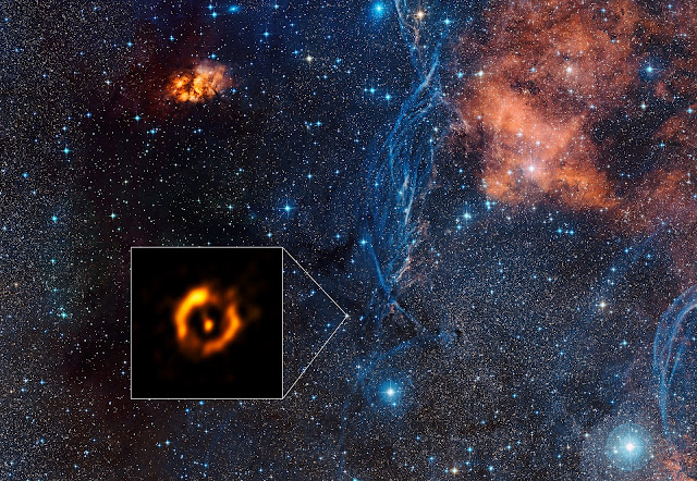 Sharpest View Ever of Dusty Disc Around Aging Star