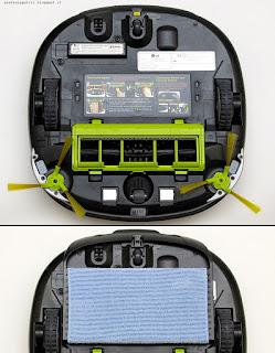 LG Hom-Bot Square VR64703LVM, vista inferiore