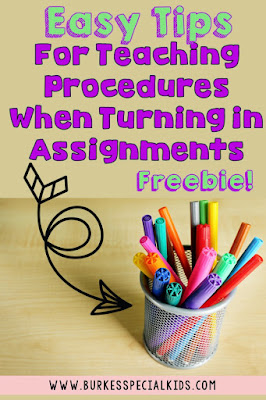 Easy Tips for Teaching Procedures and a Freebie