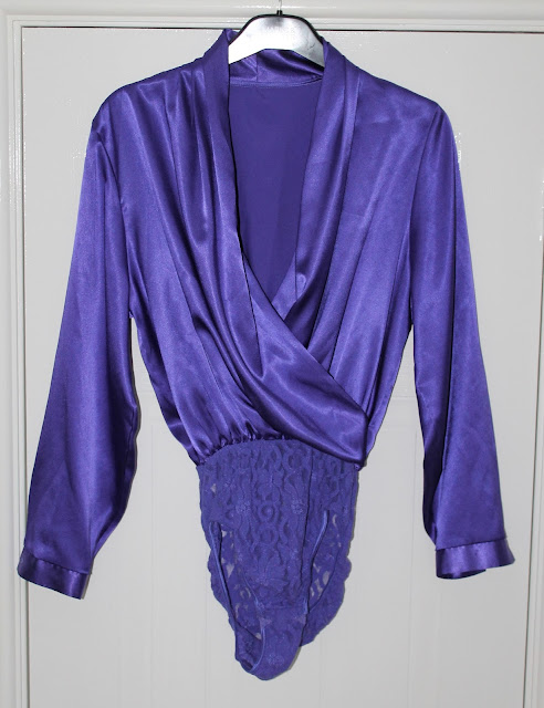 for sale 1980s purple evening blouse via lovebirds vintage