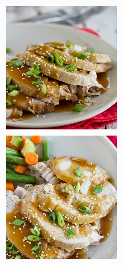 Slow Cooker Sesame Pork from Taste and Tell featured on SlowCookerFromScratch.com