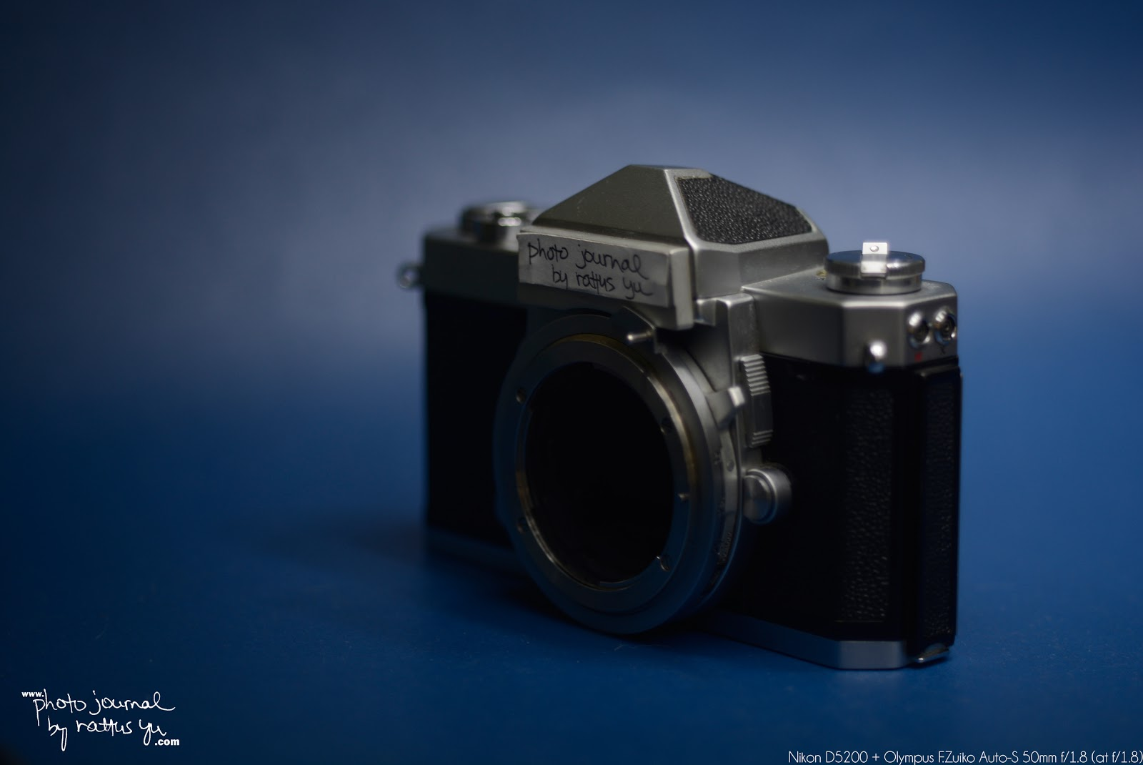 Olympus F.Zuiko Auto-S 50mm f/1.8... Converted to Nikon Mount