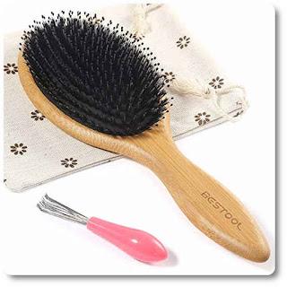 Bestool Boar Bristle Hair Brush With Nylon Pins