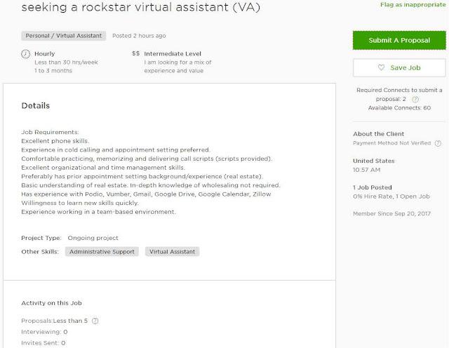 Cover Letter Sample for VA/ Virtual Assistant