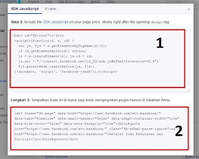 cara menampilkan fanspage facebook di blog blogspot