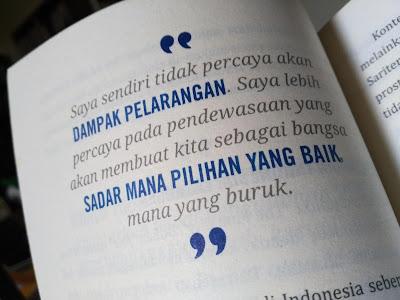Quote Pandji tentang pelarangan (dokpri)