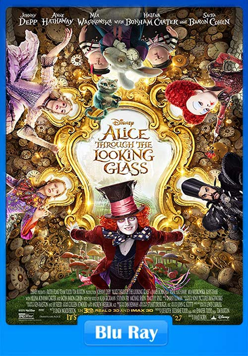 Alice Through The Looking Glass 2016 720p BluRay Dual Audio Hindi x264 | 480p 300MB | 100MB HEVC