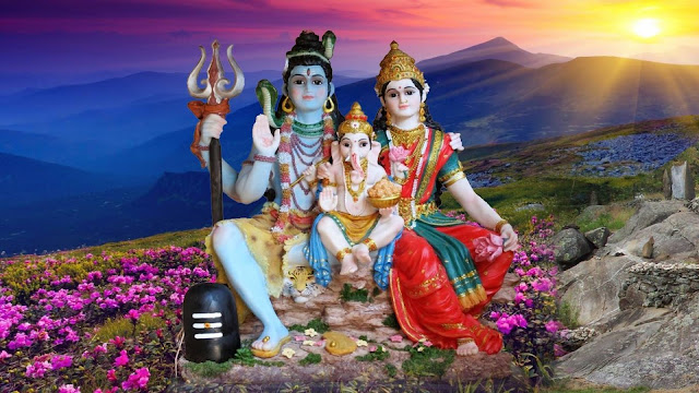 Best God Shiva With Parvati & Ganesha Family HD Wallpaper